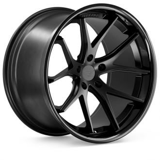 FERRADA - FR2 Matte Black with Gloss Black Lip