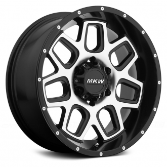 MKW OFF-ROAD - M92 Satin Black with Machined Face
