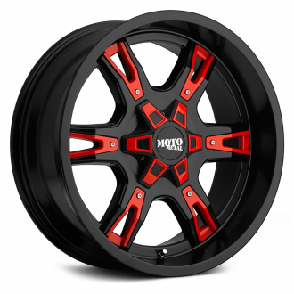 MOTO METAL - MO969 Gloss Black with Red and Chrome Accents