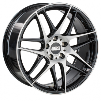 BBS - CX-R Black with Diamond Cut