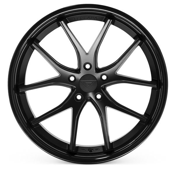 FERRADA FR2 Matte Black with Gloss Black Lip