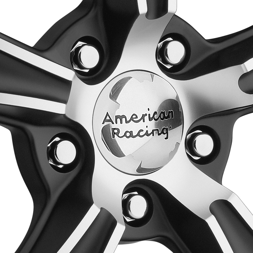 AMERICAN RACING BLVD Satin Black with Machined Face