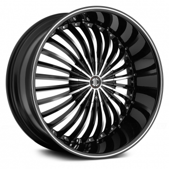 2 CRAVE - No.19 Gloss Black with Machined Face and Stripe
