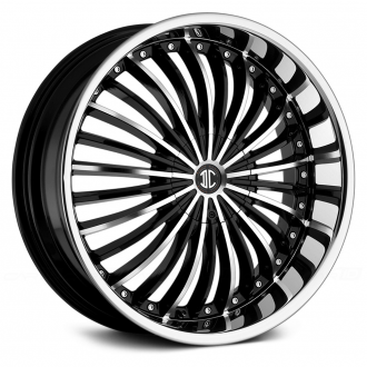 2 CRAVE - No.19 Gloss Black with Machined Face and Chrome Lip