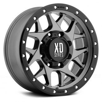 KMC XD SERIES - XD127 BULLY Matte Gray with Black Bead Ring