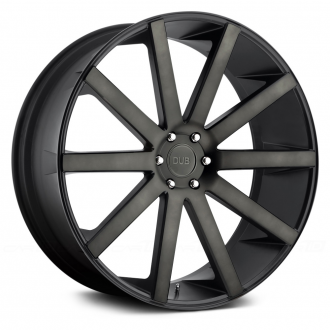 DUB - SHOT CALLA Matte Black with Machined Face and Double Dark Tint