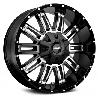MKW OFF-ROAD - M80 Gloss Black with Machined Face