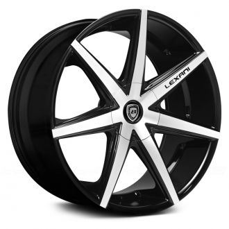 LEXANI - R-SEVEN Gloss Black with Machined Face