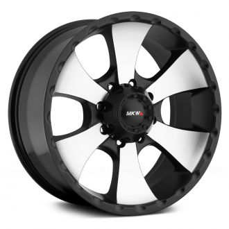 MKW OFF-ROAD - M19 Satin Black with Machined Face