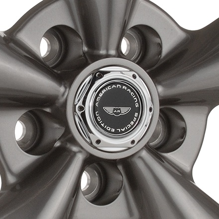 AMERICAN RACING TORQ THRUST M Anthracite with Machined Lip