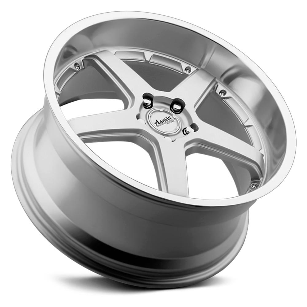 ADVANTI RACING TRAKTION Silver with Polished Lip