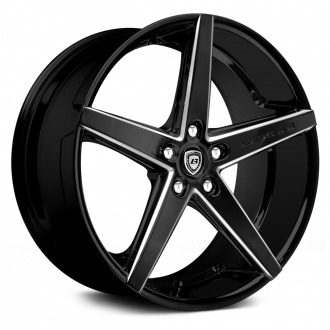 LEXANI - R-FOUR Gloss Black with Machined Accents and Exposed Lugs