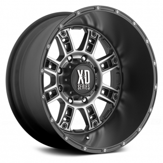 KMC XD SERIES - RIOT Matte Black with Machined Face