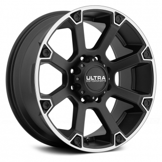 ULTRA - SPLINE 245SB Satin Black with Diamond Cut Flange