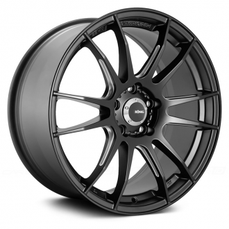 KONIG - TORCH Matte Black with Ball Cut Machined Spokes