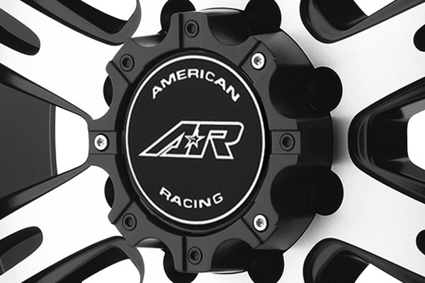 AMERICAN RACING AR708 Matte Black with Machined Face