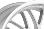 BEYERN MESH Silver with Mirror Machined Cut Lip