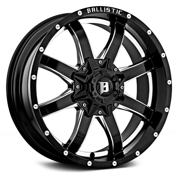 BALLISTIC ANVIL Gloss Black with Milled Window