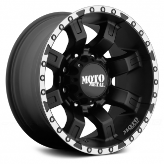 MOTO METAL - MO968 Satin Black with Machined Flange