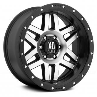 KMC XD SERIES - XD128 MACHETE Satin Black with Machined Face