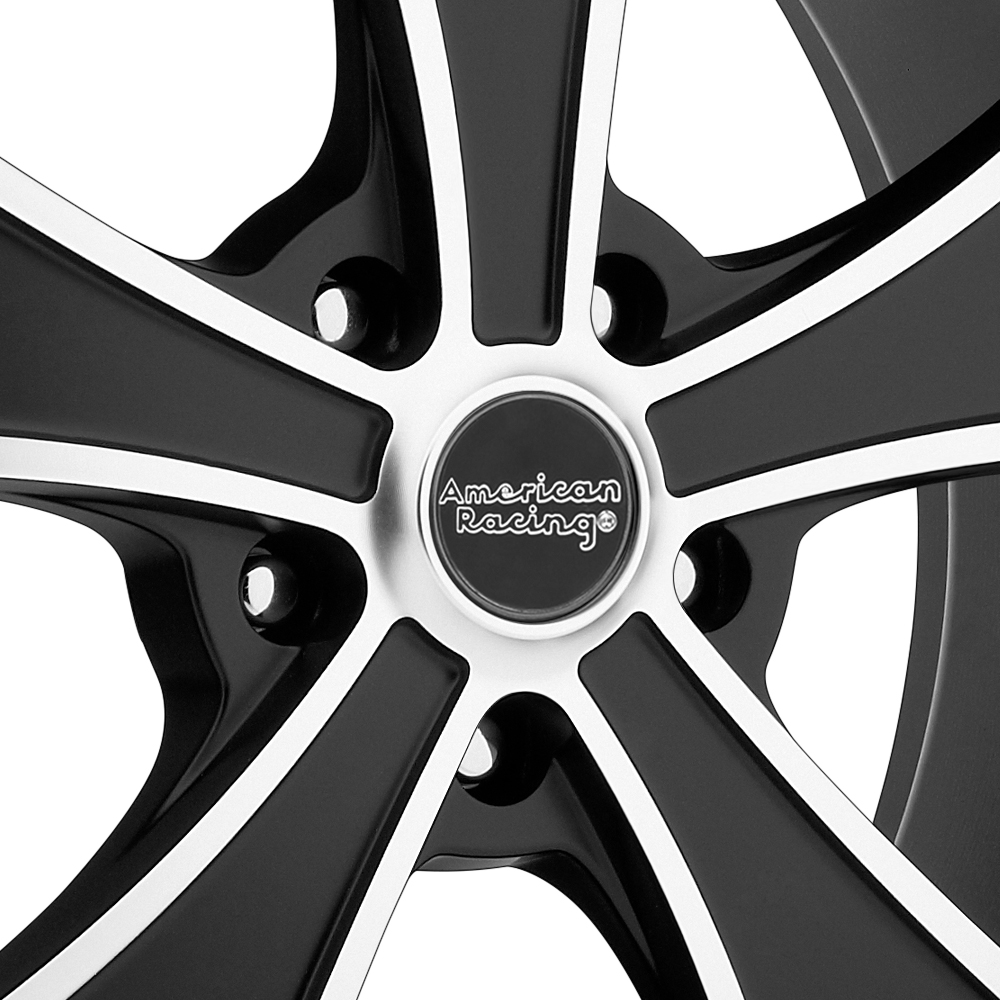 AMERICAN RACING MACH 5 807 Satin Black with Machined Face