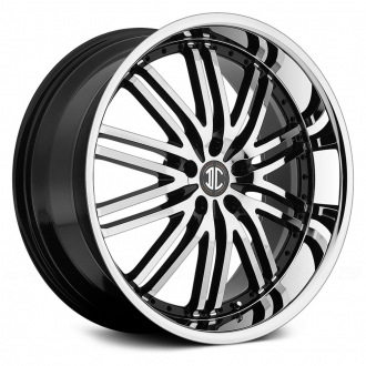 2 CRAVE - NO.22 Gloss Black with Machined Face and Chrome Lip
