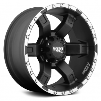 MOTO METAL - MO967 Satin Black with Machined Flange