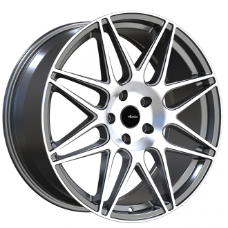 ADVANTI RACING - CLASSE Matte Gunmetal with Machined Face